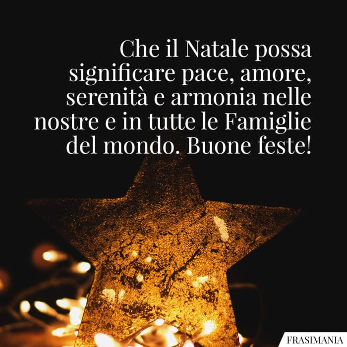 Frasi Natale pace amore
