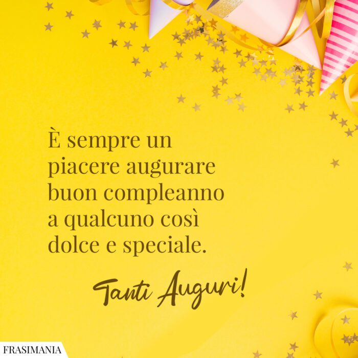 Frasi auguri compleanno dolce